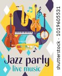 jazz party live music retro... | Shutterstock .eps vector #1019605531