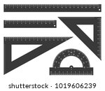 ruler  triangle ruler and... | Shutterstock .eps vector #1019606239