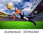 football player on field of... | Shutterstock . vector #101961364