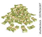 set of money. packing in... | Shutterstock .eps vector #1019616187
