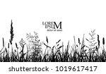 seamless background of grass.... | Shutterstock .eps vector #1019617417
