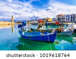 pictorial colorful greece... | Shutterstock . vector #1019618764