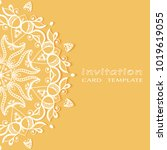 invitation or card template... | Shutterstock .eps vector #1019619055