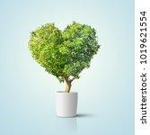 Green Tree Shaped In Heart...