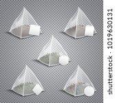 silky nylon pyramid realistic... | Shutterstock .eps vector #1019630131