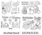 big set of business doodles... | Shutterstock .eps vector #1019631331