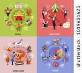 circus cartoon concept with... | Shutterstock .eps vector #1019631625