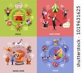 circus cartoon concept with... | Shutterstock .eps vector #1019631625