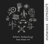 future technology hand drawn... | Shutterstock .eps vector #1019632675
