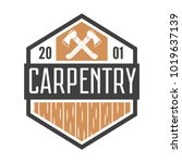 vintage carpentry  woodwork and ... | Shutterstock .eps vector #1019637139