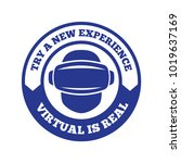 isolated vr headset logotype.... | Shutterstock .eps vector #1019637169