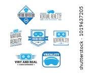 isolated vr headset logotype... | Shutterstock .eps vector #1019637205
