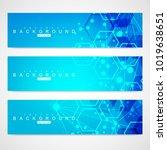 scientific set of modern vector ... | Shutterstock .eps vector #1019638651