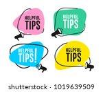 set of helpful tips megaphone... | Shutterstock .eps vector #1019639509