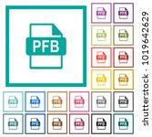 pfb file format flat color... | Shutterstock .eps vector #1019642629