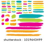 collection of hand drawn... | Shutterstock .eps vector #1019643499