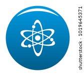 atom icon vector blue circle...   Shutterstock .eps vector #1019645371