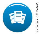 book professor icon vector blue ... | Shutterstock .eps vector #1019645485