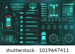 scanning car  analysis and... | Shutterstock .eps vector #1019647411