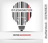 barcode image with red strip  ... | Shutterstock .eps vector #101965825