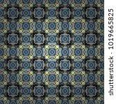 vector seamless bandana print... | Shutterstock .eps vector #1019665825