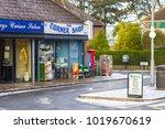 7 february 2018 a corner shop... | Shutterstock . vector #1019670619