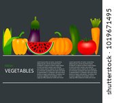 collection of realistic healthy ...   Shutterstock .eps vector #1019671495