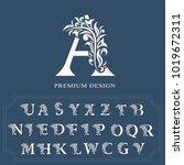 set of elegant letters.... | Shutterstock .eps vector #1019672311