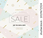 sale banner on a background... | Shutterstock .eps vector #1019672524