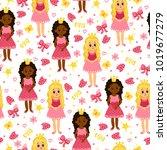 little princess. seamless...   Shutterstock .eps vector #1019677279