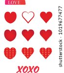 red valentine day vector eps... | Shutterstock .eps vector #1019677477