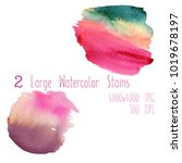 cute watercolor set of large... | Shutterstock . vector #1019678197