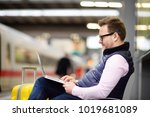 freelancer working with a... | Shutterstock . vector #1019681089