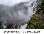 dudhsagar waterfalls near goa   Shutterstock . vector #1019681605