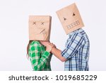 violence against woman....   Shutterstock . vector #1019685229