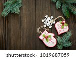 christmas or new year... | Shutterstock . vector #1019687059