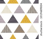seamless pattern. patchwork.... | Shutterstock .eps vector #1019689834