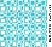 pattern with blue square | Shutterstock .eps vector #101969011