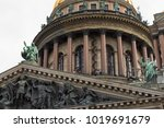 saint isaac's cathedral.... | Shutterstock . vector #1019691679