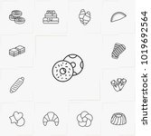 bakery line icon set | Shutterstock .eps vector #1019692564