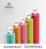 columned 3d chart data growth ...   Shutterstock .eps vector #1019695261