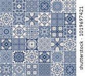traditional ornate portuguese... | Shutterstock .eps vector #1019697421
