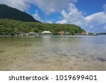 french polynesia huahine island ... | Shutterstock . vector #1019699401