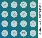 clothes icons line style set... | Shutterstock . vector #1019701081