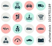 auto icons set with battery ... | Shutterstock .eps vector #1019701189