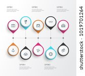 sun icons line style set with... | Shutterstock .eps vector #1019701264