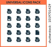 document icons set with file ... | Shutterstock .eps vector #1019701429