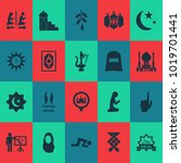 ramadan icons set with... | Shutterstock .eps vector #1019701441