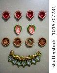 multi pattern oil lamps   Shutterstock . vector #1019707231