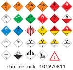 hazardous pictograms   goods... | Shutterstock .eps vector #101970811